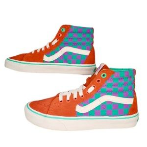 Vans X SK8 Hi Checkerboard Skate Shoe W 8.5/ M 7